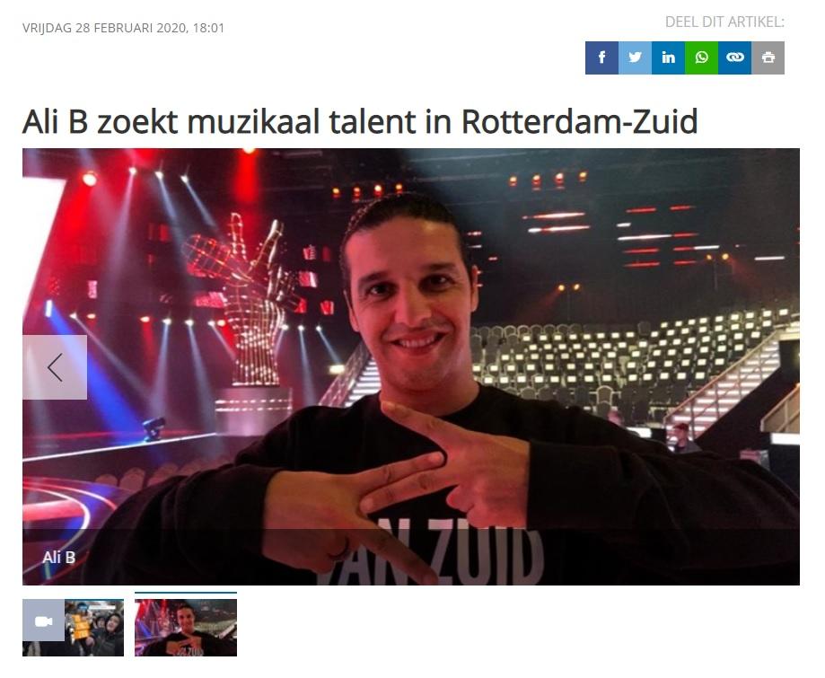 Ali B zoekt muzikaal talent in Rotterdam-Zuid