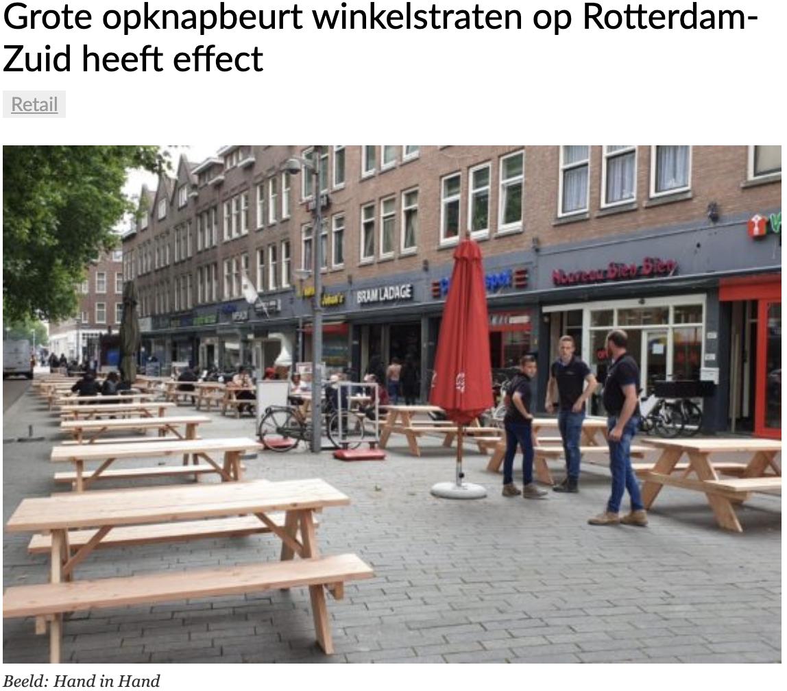 Grote opknapbeurt winkelstraten op Rotterdam-Zuid heeft effect