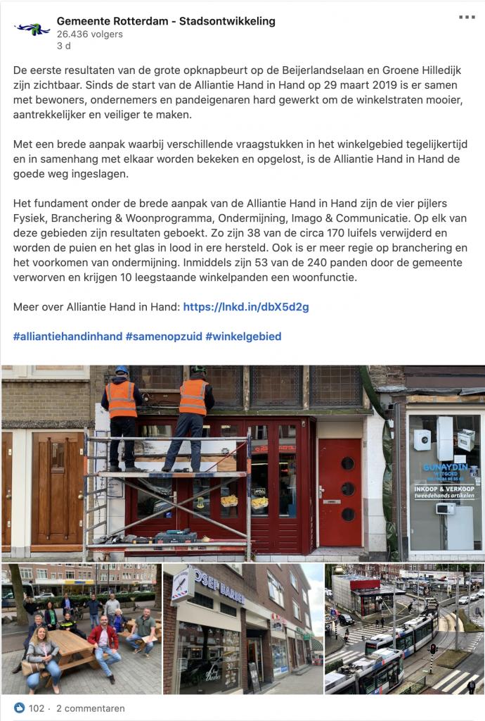 Gemeente Rotterdam – Stadsontwikkeling op Linkedin