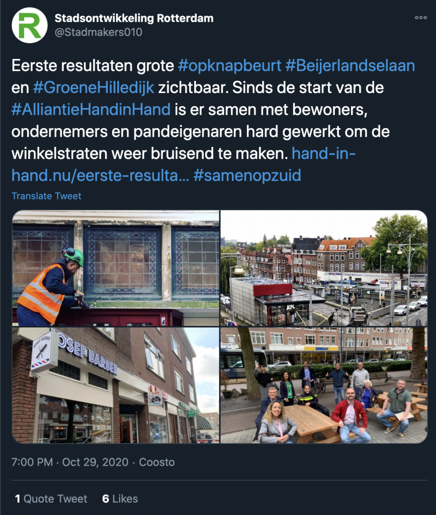 Stadsontwikkeling Rotterdam @Stadmakers010 op Twitter