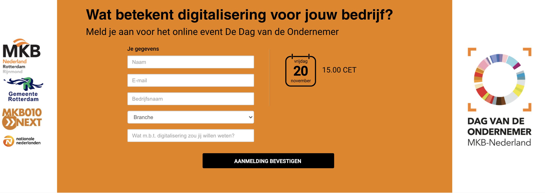 De dag van de ondernemer, digitaal